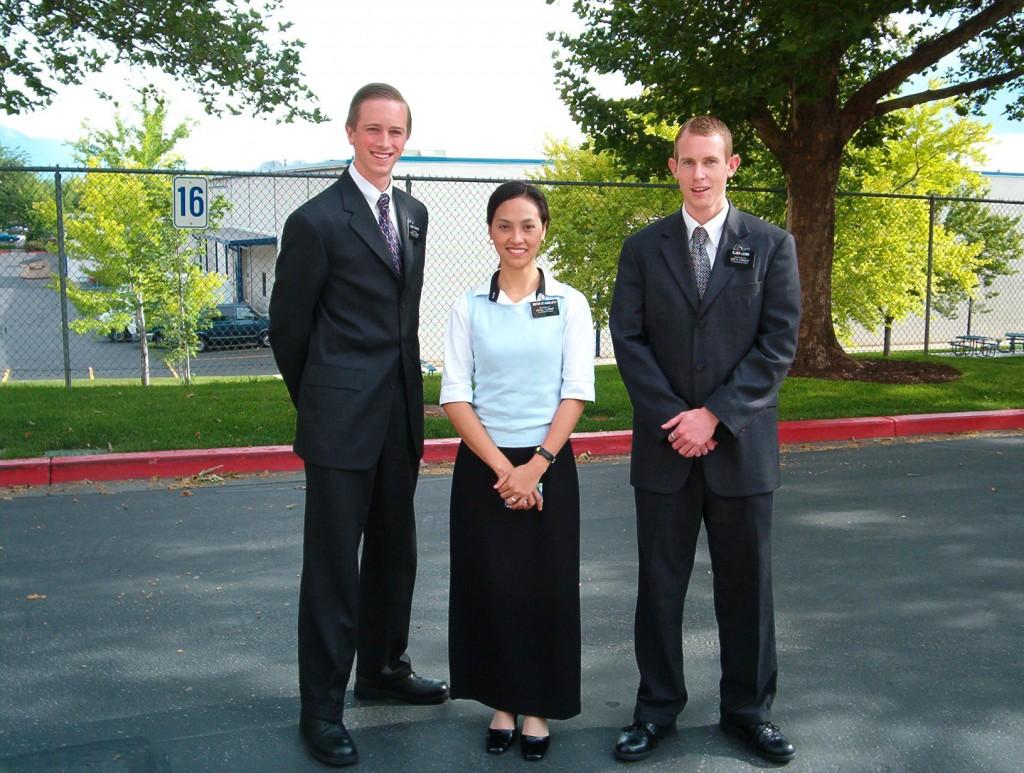 Elder Arnesen, Sister Evangelista, Elder Lewis