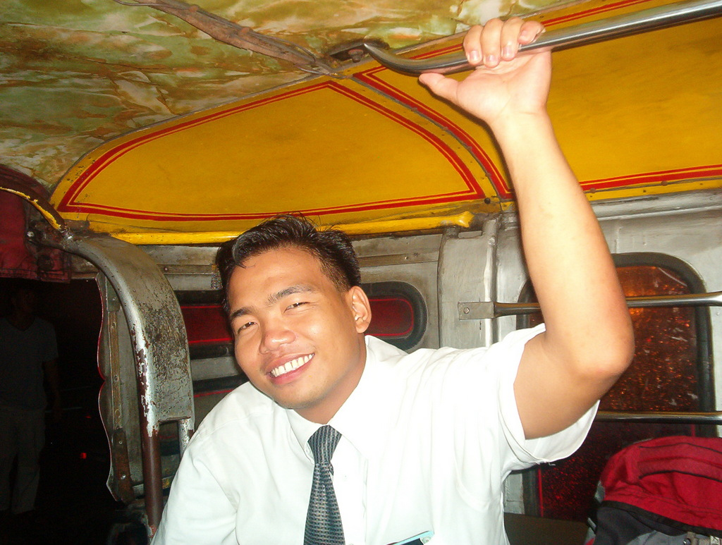 Elder Sangco in the Jeepney