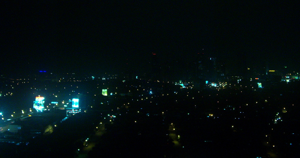 Manila from the top of a members appartment building