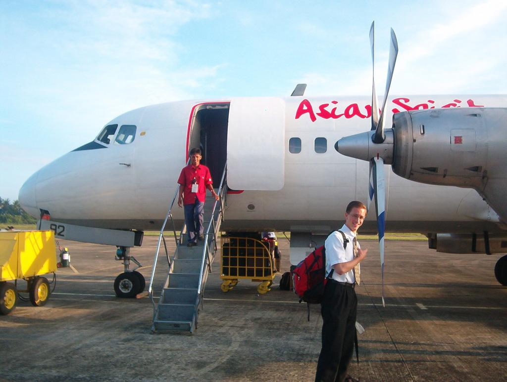 Ariving on Mindoro via Asian Spirit