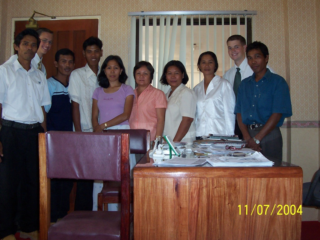 Us with the mayor in Rizal after the Manzo's wedding