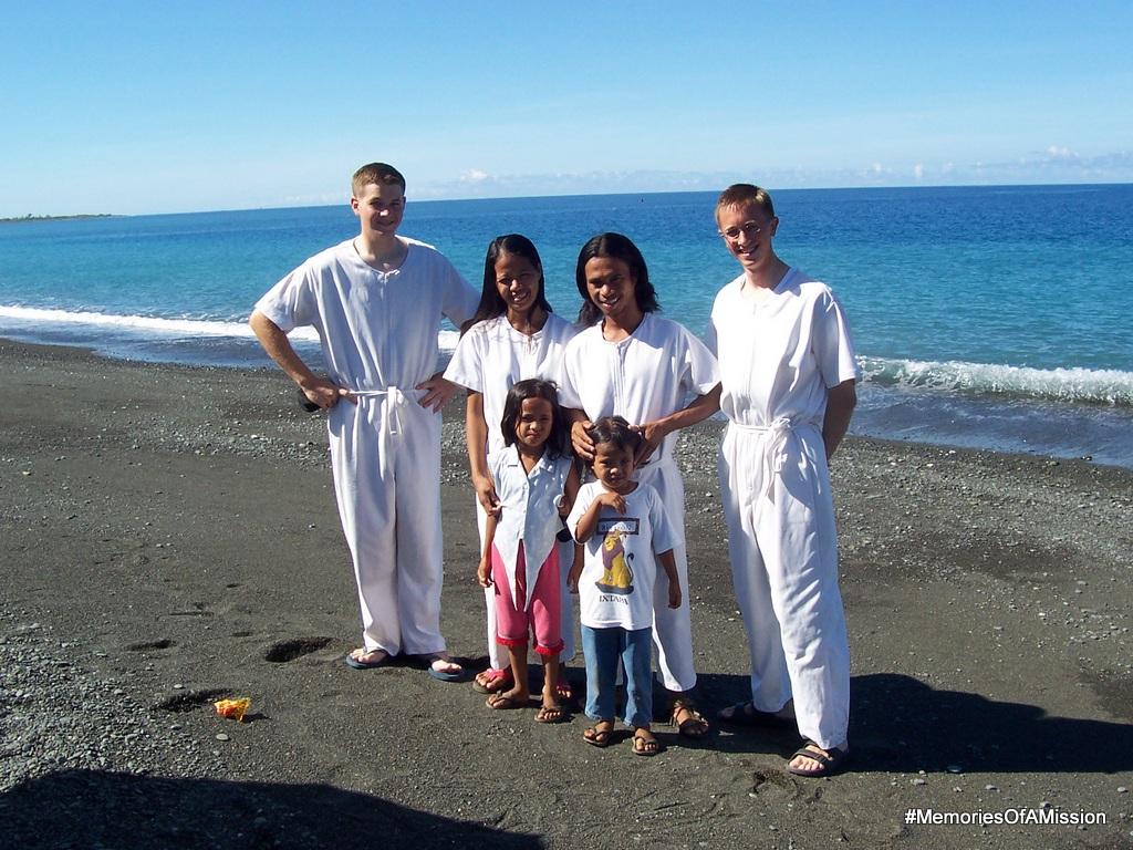 Us with the Vilorias on their baptism day. (Elder Cox, Maricel, Ramil, Elder Arnesen, Rachelle, Michelle)