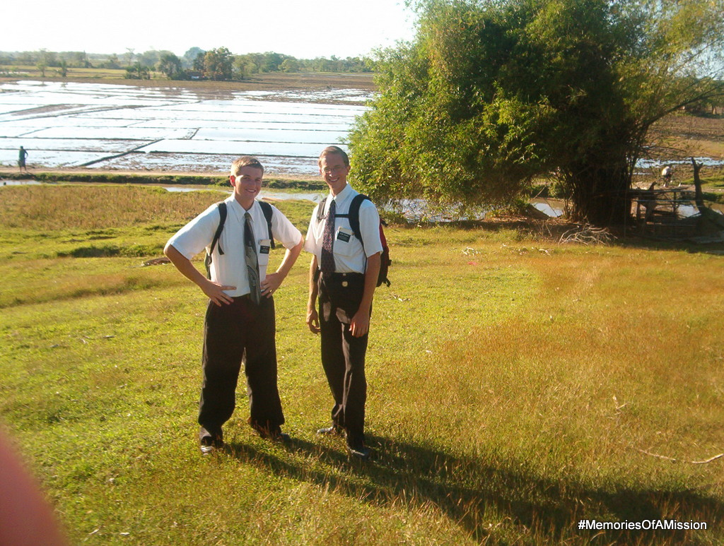 Elder Cox and I in the field up by Grill.