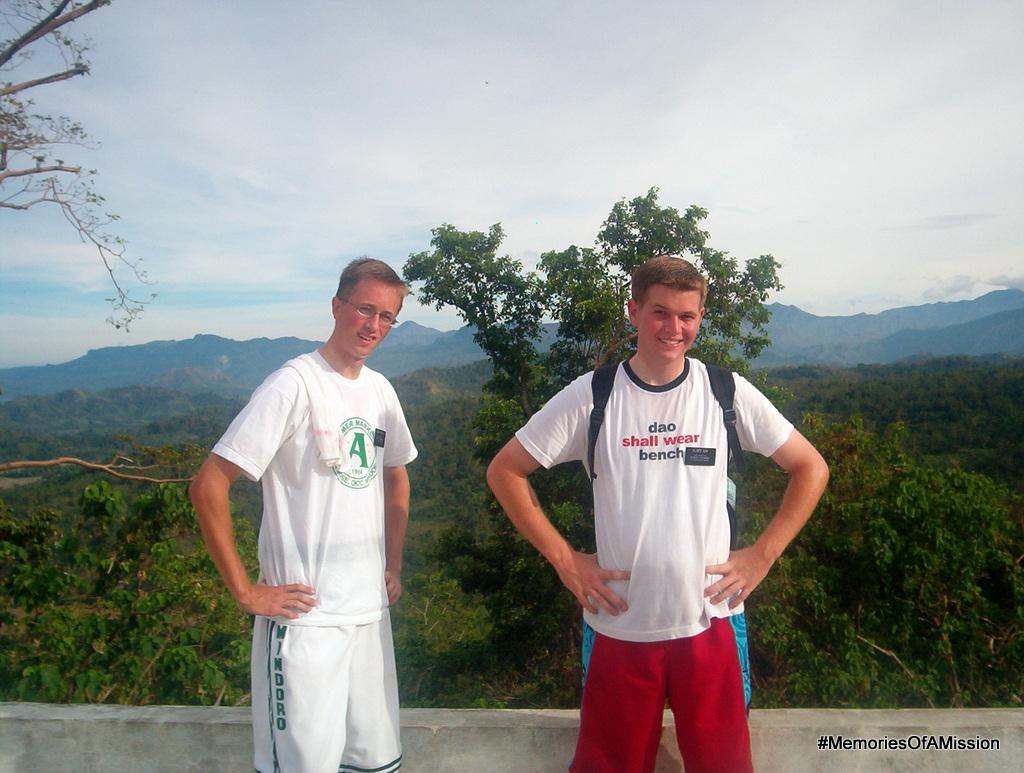 Elder Cox and Elder Arnesen on the Mountain