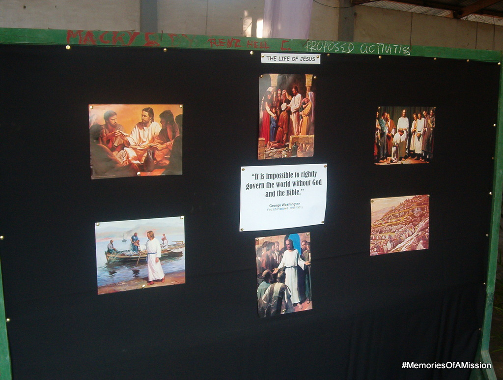 The Bible display at the catholic church
