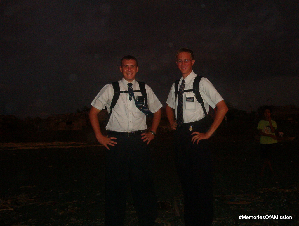 Elder Cox and I down by the beach