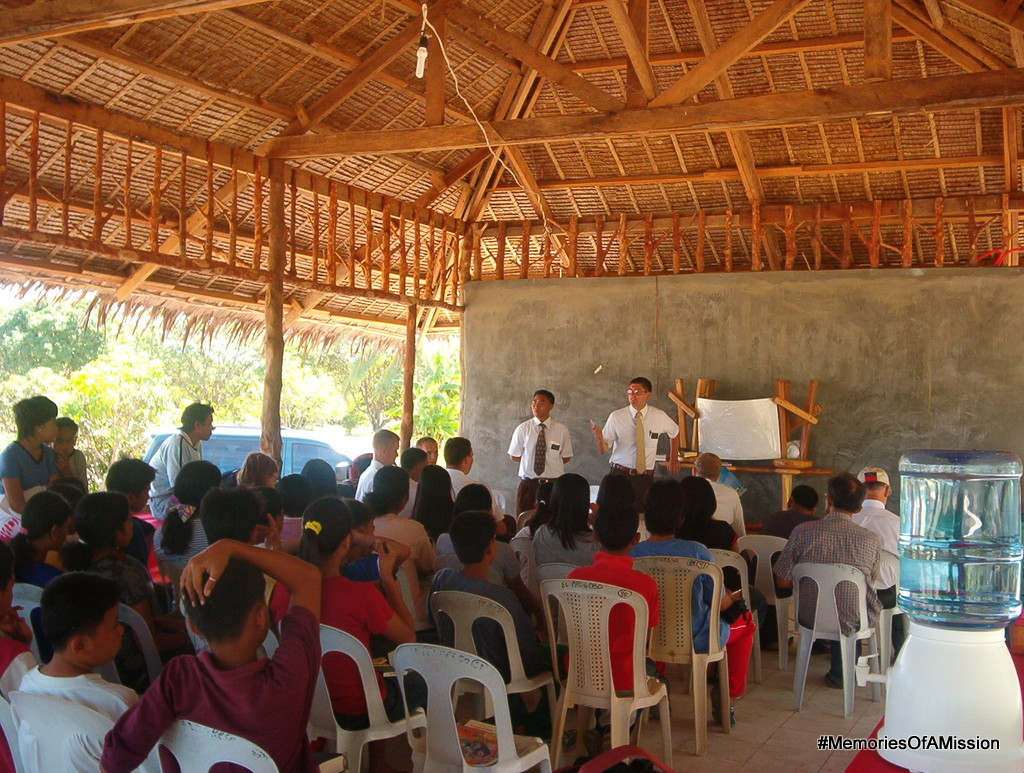 Elder Malingin and Elder Fairbanks teach at the Youth Conference
