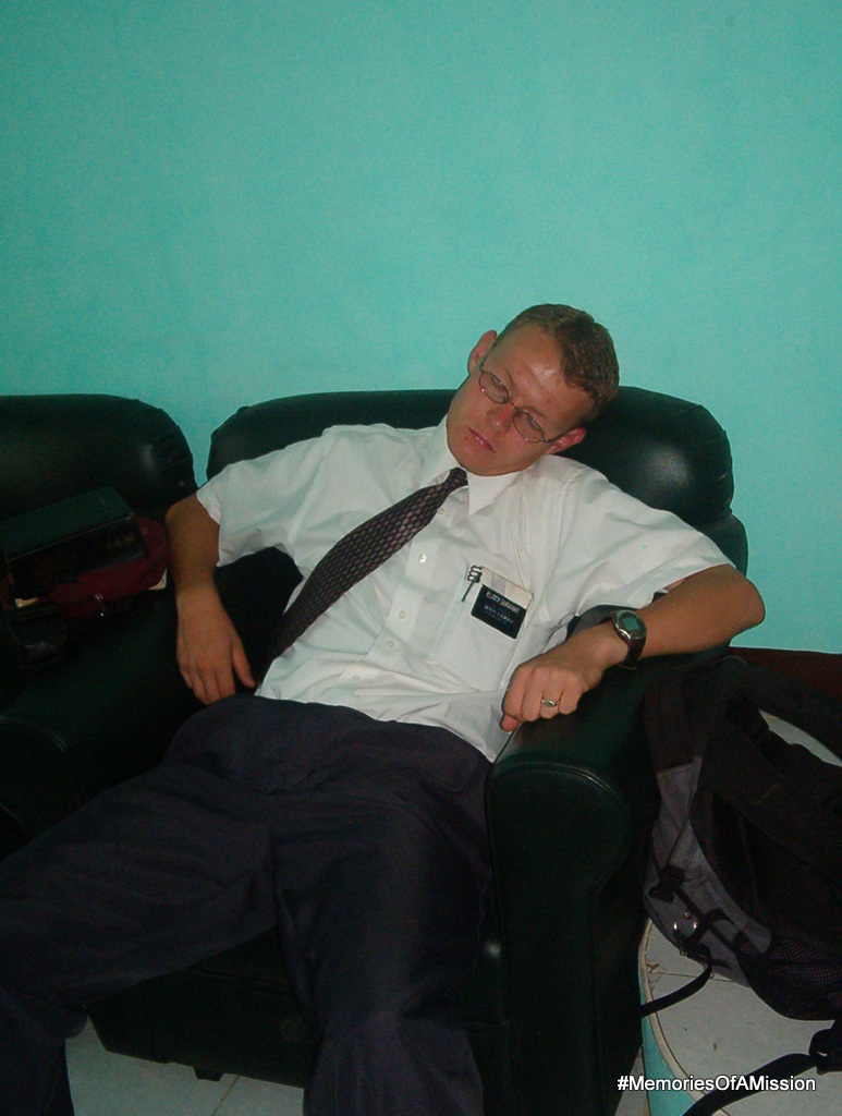 Elder Durrant snoozing