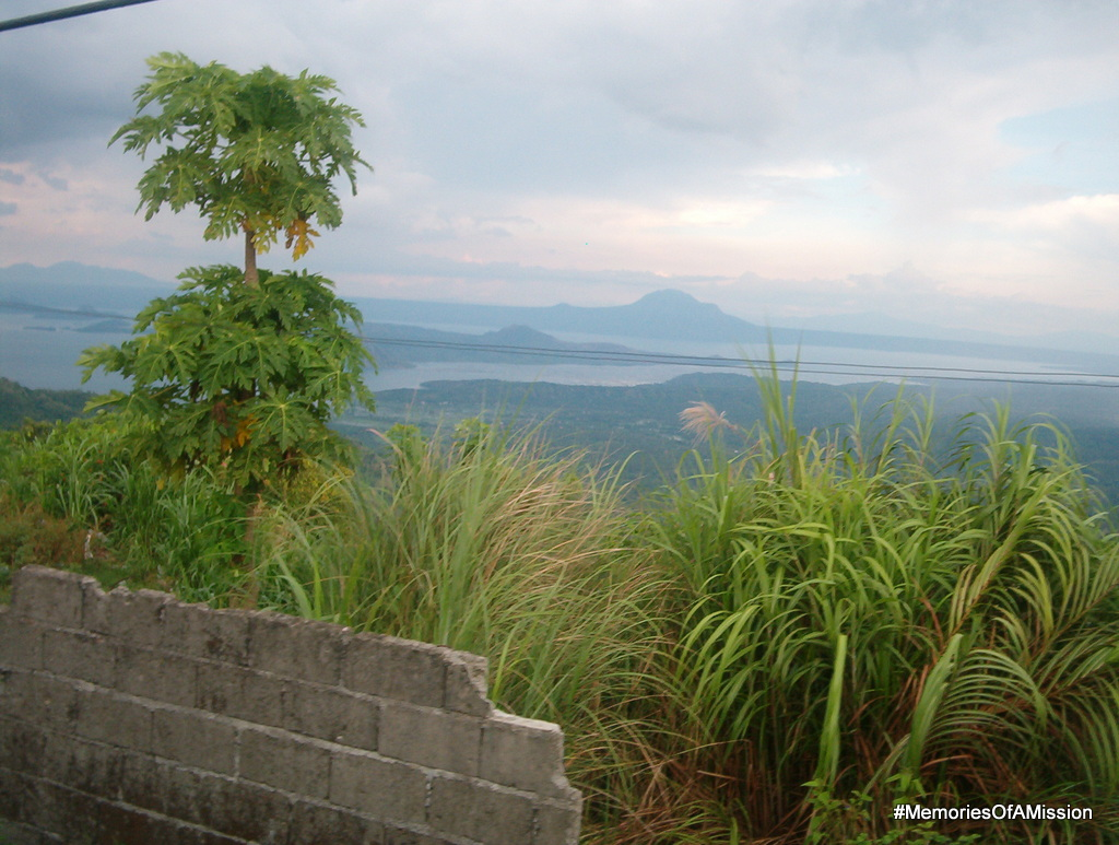 The view from People's Park of Taal Volcano